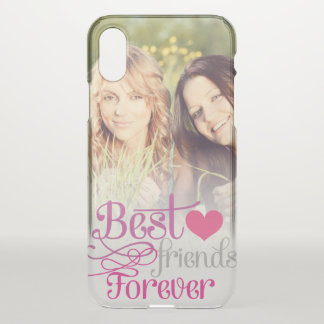 BFF - Fashion Best Friends Forever with Photo iPhone X Case