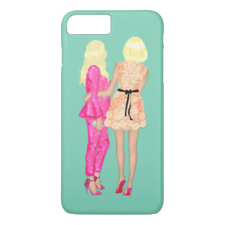 BFF Fashionista fashion Friends Forever Love Pink iPhone 7 Plus Case