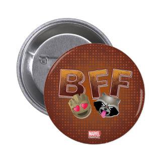 BFF Groot & Rocket Emoji 2 Inch Round Button