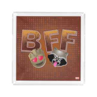 BFF Groot & Rocket Emoji Acrylic Tray