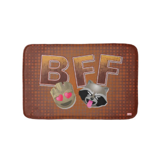 BFF Groot & Rocket Emoji Bath Mat