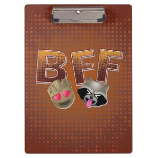 BFF Groot & Rocket Emoji Clipboard