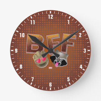 BFF Groot & Rocket Emoji Clock