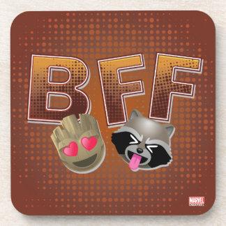 BFF Groot & Rocket Emoji Coaster