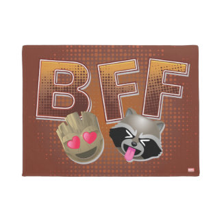 BFF Groot & Rocket Emoji Doormat
