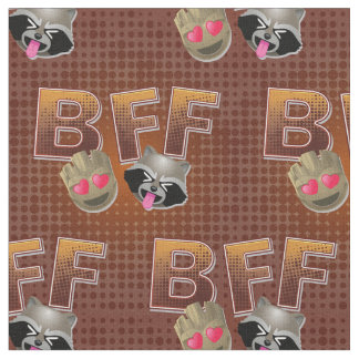 BFF Groot & Rocket Emoji Fabric