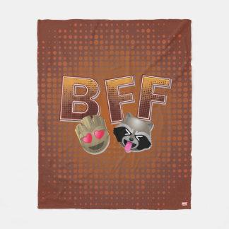 BFF Groot & Rocket Emoji Fleece Blanket