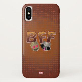 BFF Groot & Rocket Emoji iPhone X Case