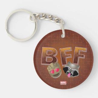 BFF Groot & Rocket Emoji Keychain