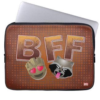 BFF Groot & Rocket Emoji Laptop Sleeve