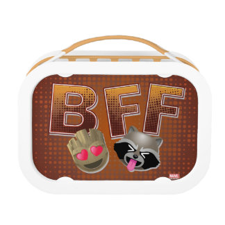 BFF Groot & Rocket Emoji Lunch Box
