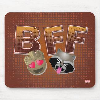 BFF Groot & Rocket Emoji Mouse Pad