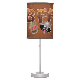BFF Groot & Rocket Emoji Table Lamp