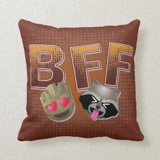 BFF Groot & Rocket Emoji Throw Pillow