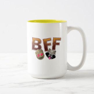 BFF Groot & Rocket Emoji Two-Tone Coffee Mug