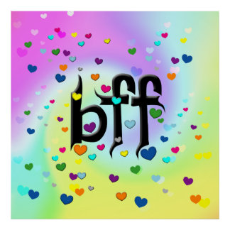 bff ~ hearts poster