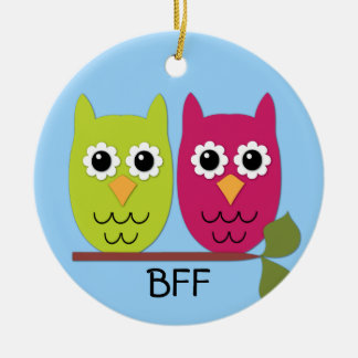 BFF Owl Ornament