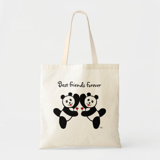 BFF Panda Friends Tote Bag