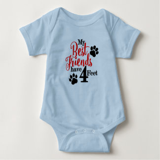 BFF With 4 Feet Baby Bodysuit