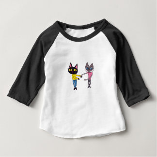 BFFs Cats (Pan & Chibi) Baby T-Shirt