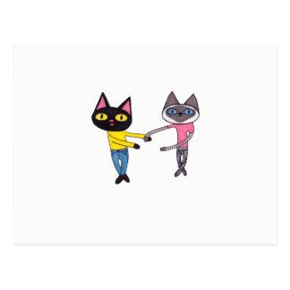 BFFs Cats Postcard