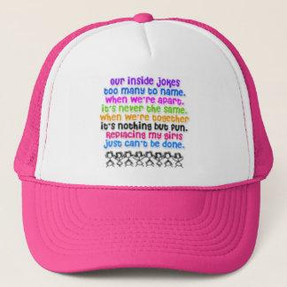 Bffs rock! <hat> trucker hat