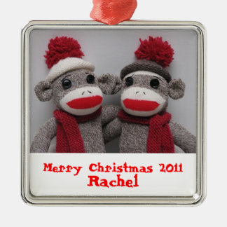 BFF'S Sock Monkey Ornament