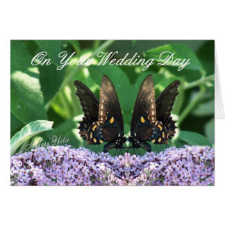 BflyCard Wedding-customize-any occasion Greeting Card