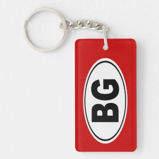 BG Bowling Green Kentucky Double-Sided Rectangular Acrylic Keychain