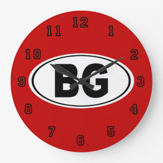 BG Bowling Green Kentucky Large Clock