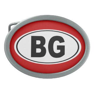 BG Bowling Green Kentucky Oval Belt Buckle