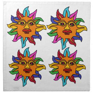 BG- Fun Colorful Mexican Art Style Sun Napkin