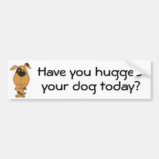 BG- Have you hugged, your dog today bumper sticker