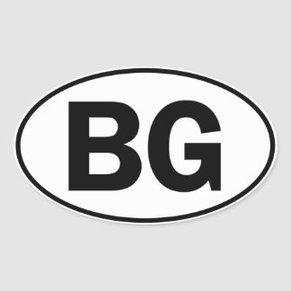 BG Oval ID Oval Sticker