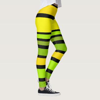 BG Stripes Pattern colored V + your background Leggings