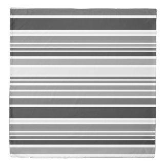 BG Stripes Pattern colored VII + your back & ideas Duvet Cover