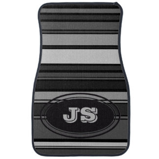 BG Stripes Pattern colored XI + your monogram Auto Mat