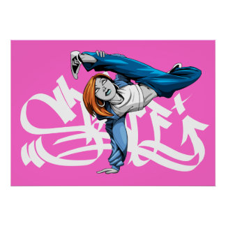 BGIRL pose poster with graf