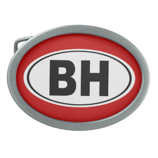 BH Beverly Hills California Belt Buckle