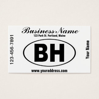 BH Beverly Hills California Business Card