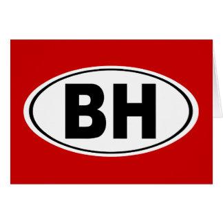 BH Beverly Hills California Card