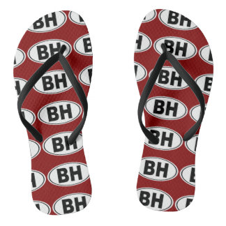 BH Beverly Hills California Flip Flops