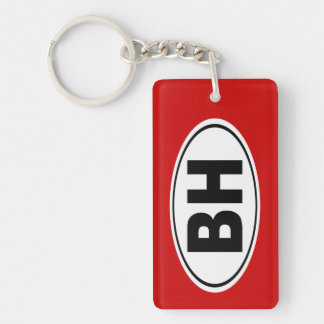 BH Beverly Hills California Keychain