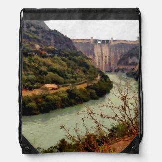 Bhakra Nangal Dam Drawstring Bag