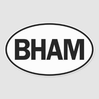 BHAM Oval ID Oval Sticker