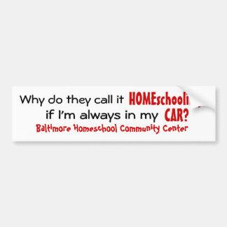 BHCC Homeschooling in the Car Car Bumper Sticker