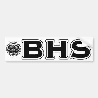 BHS Mascot Bumper Sticker (blk on white)