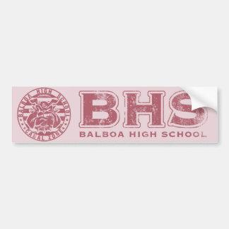 BHS Mascot Bumper Sticker (textured pink)