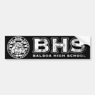 BHS Mascot Bumper Sticker (textured wht on black)