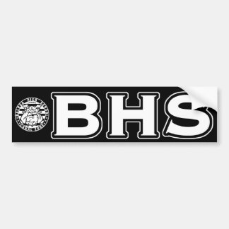 BHS Mascot Bumper Sticker (wht on black)